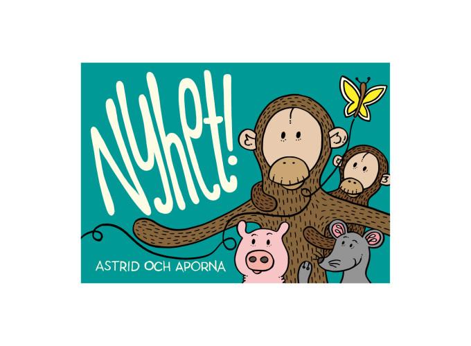 Marknadsföringsmaterial –Astrid och aporna