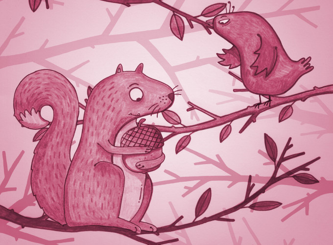 Djur i skogen